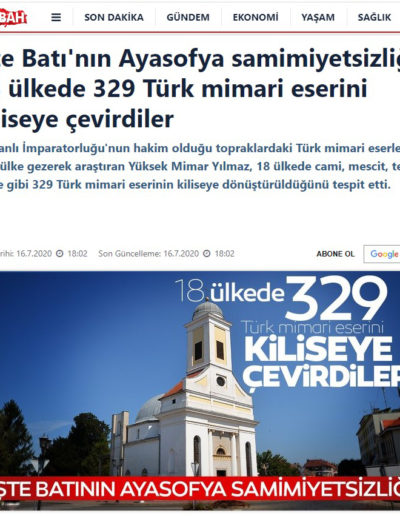 Kiliseye Çevrilen Türk Eserleri gazete haberleri (10)