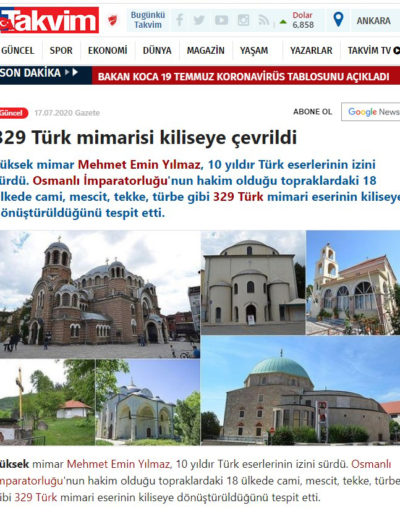 Kiliseye Çevrilen Türk Eserleri gazete haberleri (12)