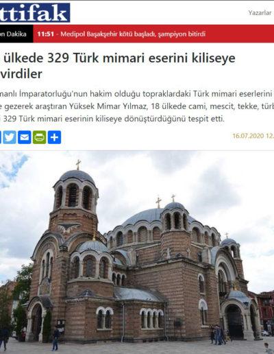 Kiliseye Çevrilen Türk Eserleri gazete haberleri (17)