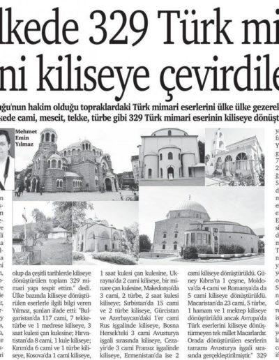 Kiliseye Çevrilen Türk Eserleri gazete haberleri (25)