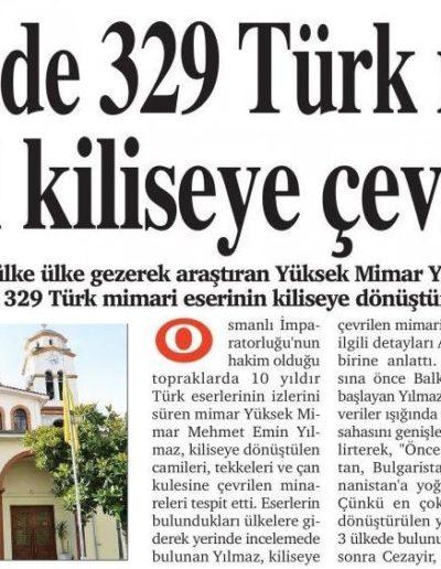 Kiliseye Çevrilen Türk Eserleri gazete haberleri (27)